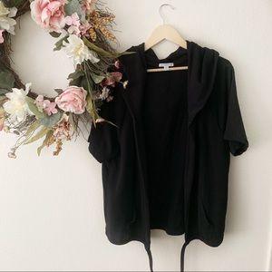 Standard James Perse   Short Sleeve Open Sweater 4